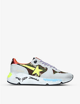 GOLDEN GOOSE: Runner Star 407 suede and satin low-top trainers