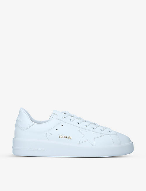GOLDEN GOOSE: Men's Pure Star leather trainers