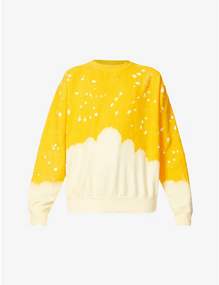 LA DETRESSE: Acid Wash cotton-blend sweatshirt