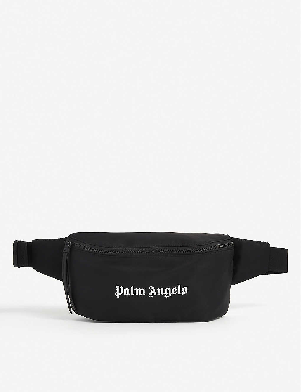 PALM ANGELS: Logo-print nylon bum bag