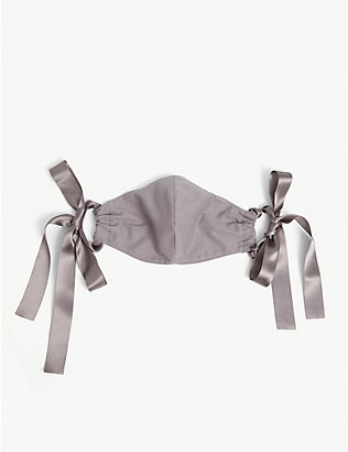 ROOP: Upcycled ribbon-strap organic-cotton face covering