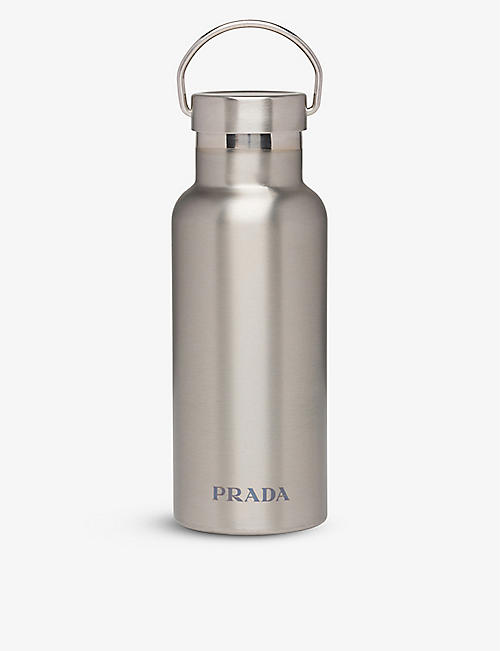 PRADA LINEA ROSSA: Logo-print stainless steel water bottle 500ml