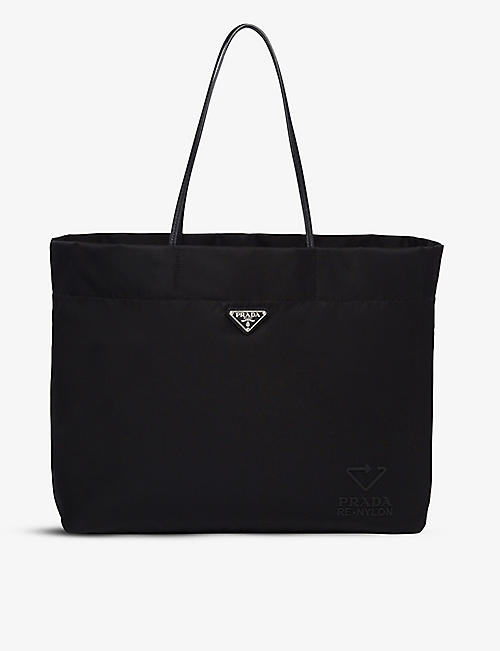 PRADA: Leather and recycled-nylon medium tote