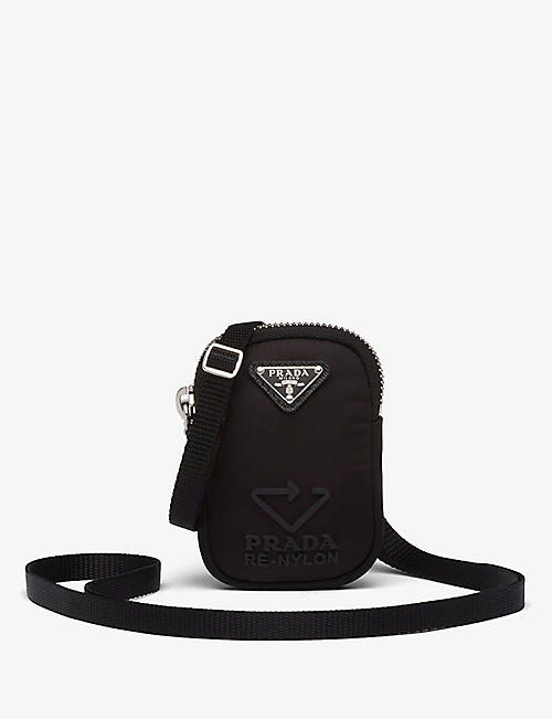 PRADA: Zipped mini recycled-nylon case