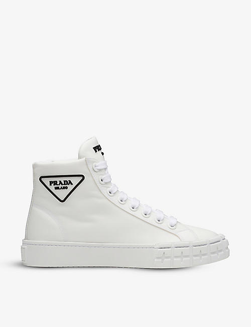 PRADA: Wheel high-top recycled-nylon trainers