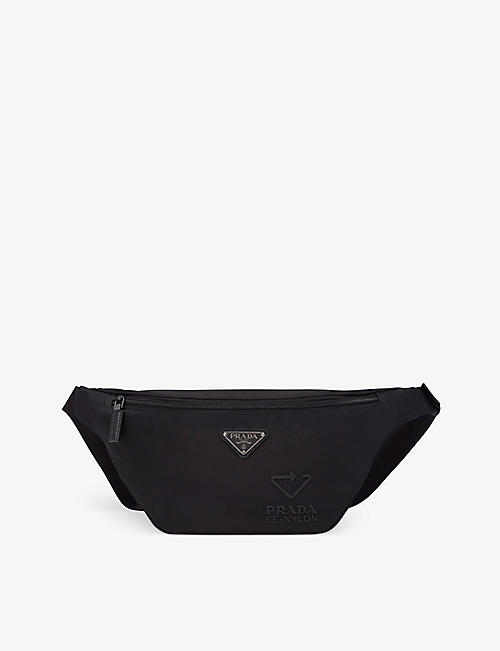 PRADA: Logo-embossed recycled-nylon and leather belt bag
