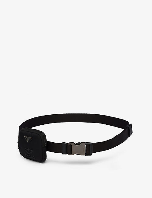 PRADA: Woven recycled-nylon belt with pouch