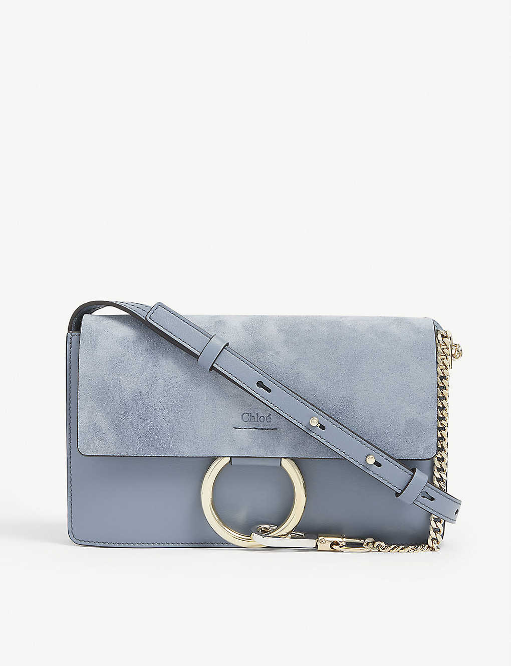 CHLOE: Faye small leather shoulder bag