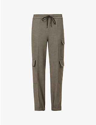 ME AND EM: Cargo tapered woven jogging bottoms