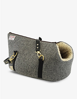 LISH: Philip wool-blend medium pet carrier