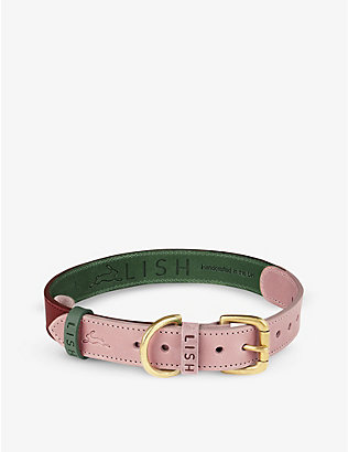 LISH: Walter large leather dog collar