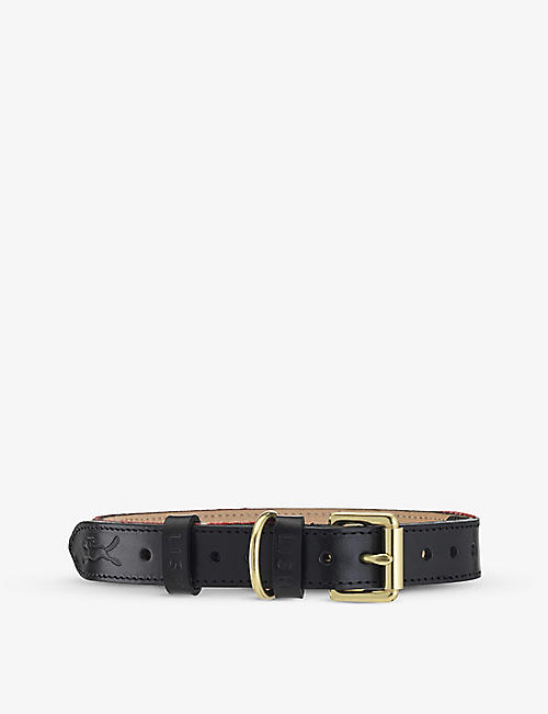 LISH: Hanbury Harris Tweed and leather dog collar