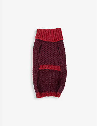LISH: Maple medium wool-blend dog jumper