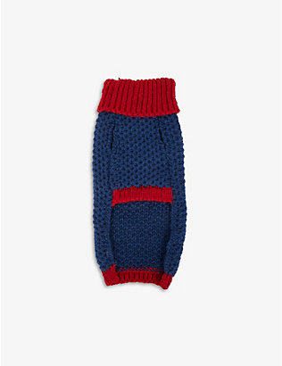 LISH: Smithy polo-neck wool dog jumper