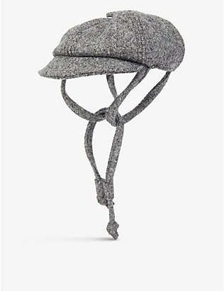 LISH: Philip wool-blend baker boy dog hat