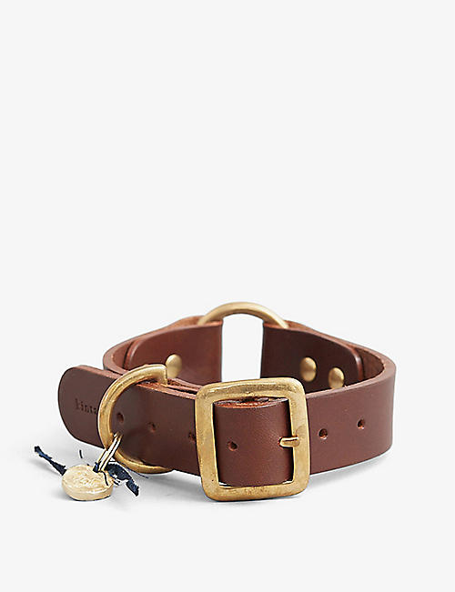 KINTAILS: Logo-embossed leather dog collar