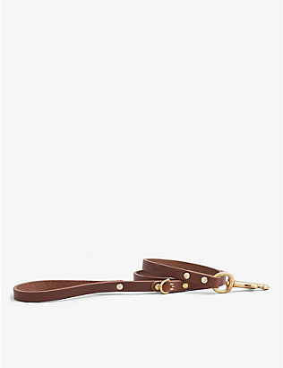 KINTAILS: Skinny leather dog lead