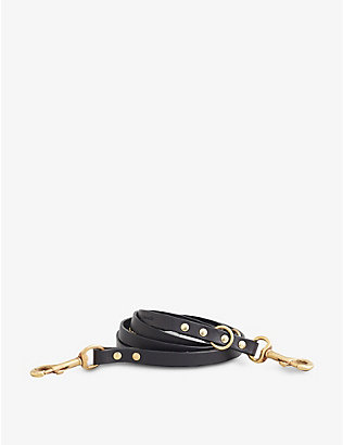 KINTAILS: Adjustable long leather dog lead