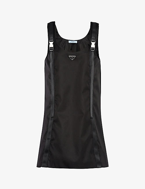 PRADA: Sleeveless recycled-nylon mini dress