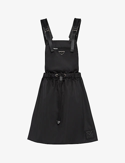 PRADA: Branded recycled-nylon mini dress