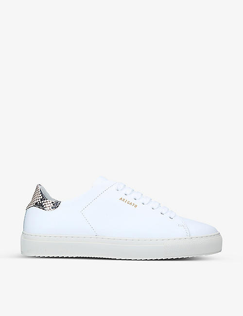 AXEL ARIGATO: Clean 90 snakeskin-embossed panel leather trainers