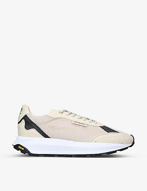 MERCER: The Runner vegan-leather mid-top trainers
