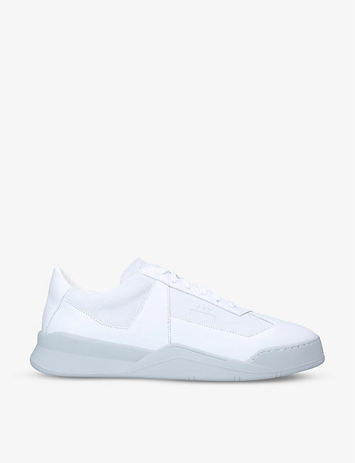 COLD WALL: Shard leather low-top trainers