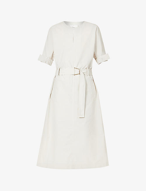 3.1 PHILLIP LIM: Dolman-sleeved belted cotton-blend midi dress