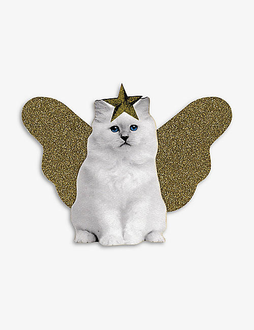 TURNAROUND: Winged cat tree topper 22cm