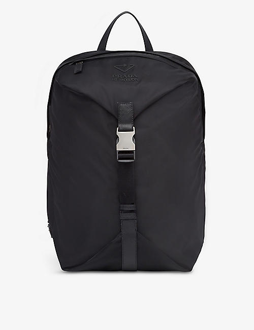 PRADA: Leather and recycled-nylon backpack