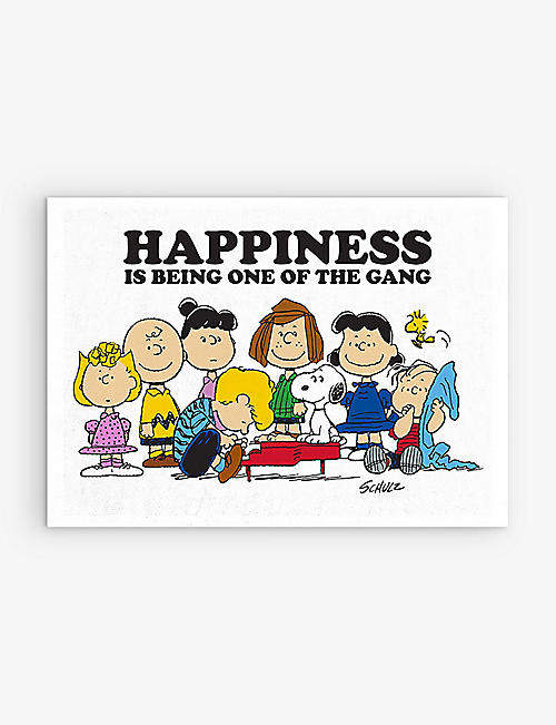 MAGPIE + PEANUTS: Happiness is Being One of the Gang slogan-print cotton tea towel