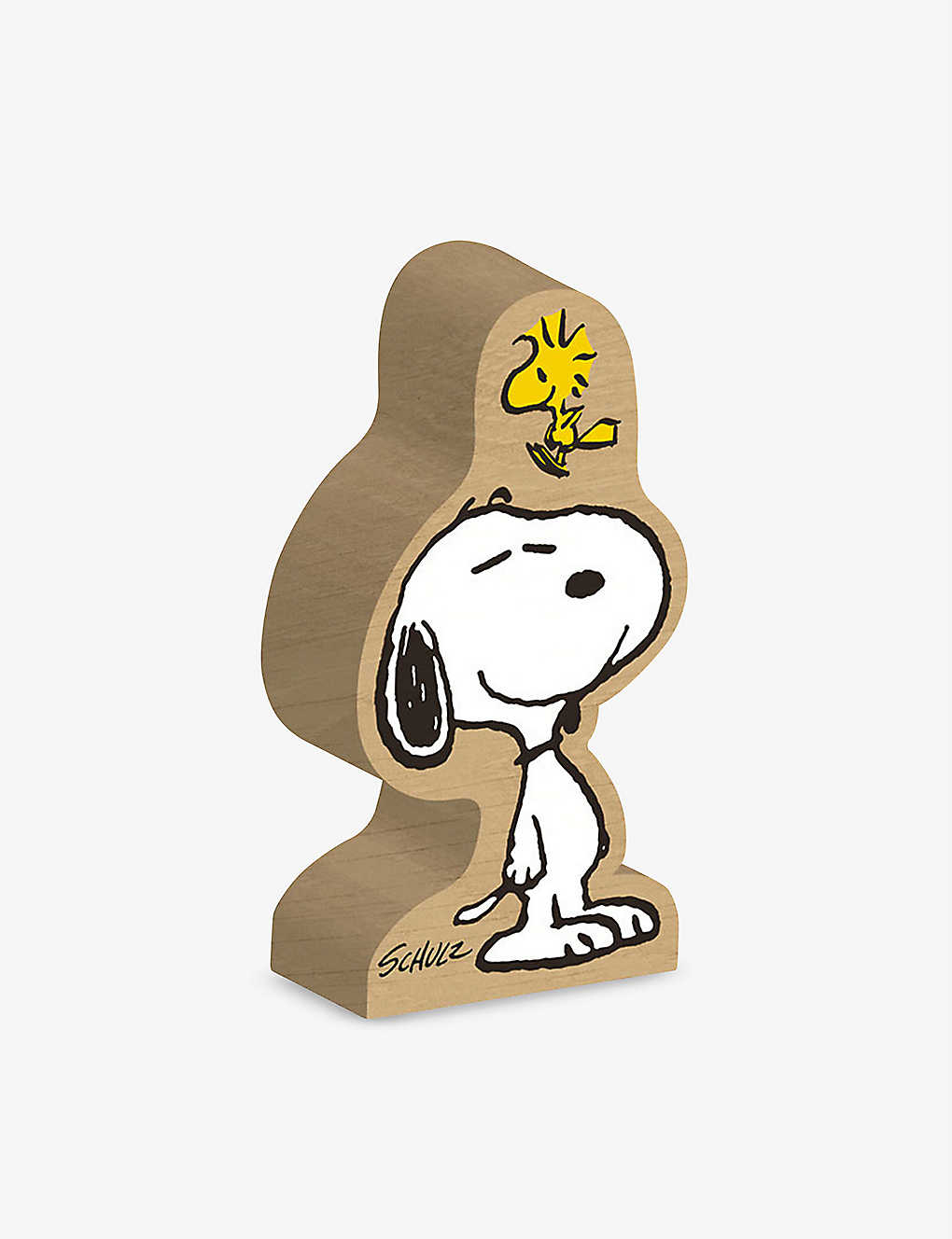 MAGPIE + PEANUTS: Snoopy and Woodstock wood block figure 6.5-8.5cm