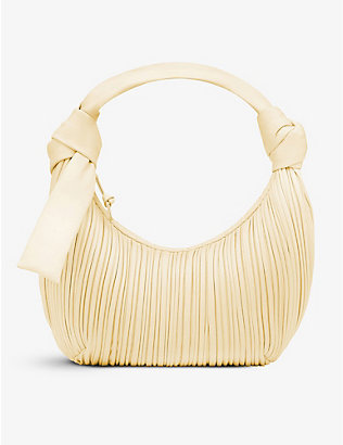 NEOUS: Neptune pleated leather hobo bag