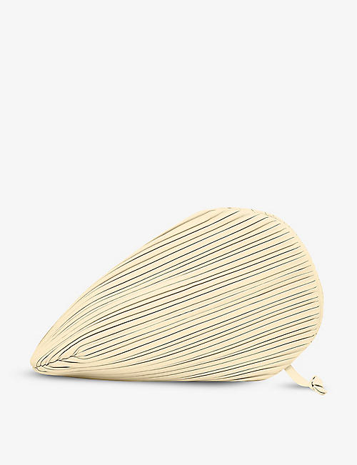 NEOUS: Pluto pleated leather clutch bag