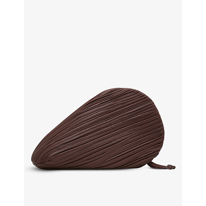 Neous Leathers PLUTO PLEATED LEATHER CLUTCH BAG