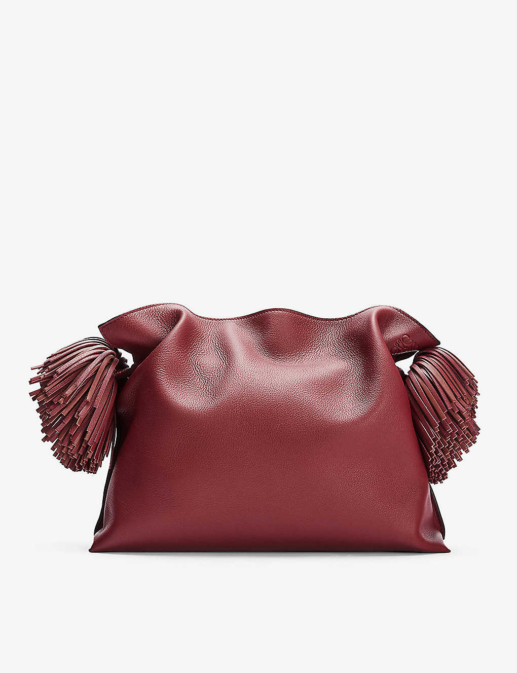 LOEWE: Flamenco tasselled leather clutch