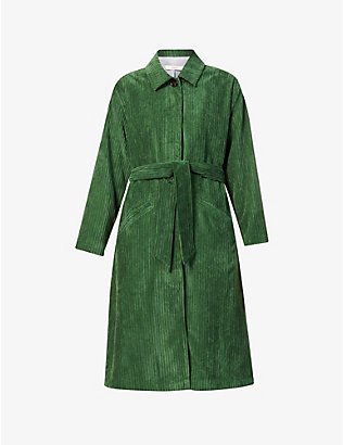 SESSUN: Jeff belted corduroy trench coat