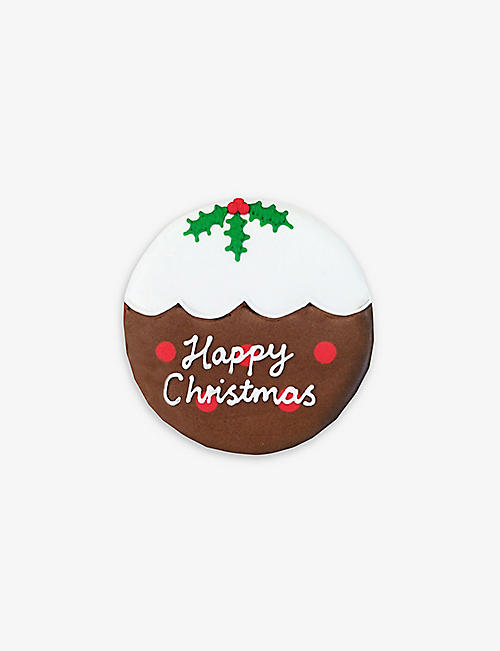 BISCUITEERS: Christmas Pudding biscuit card 15g