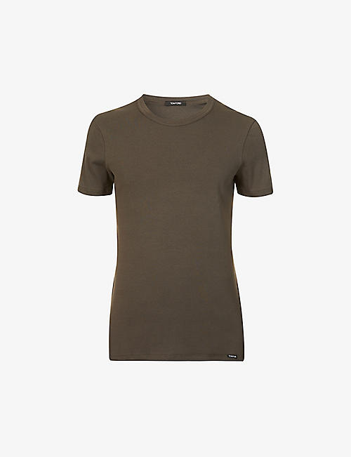 TOM FORD: Crewneck regular-fit stretch-cotton T-shirt