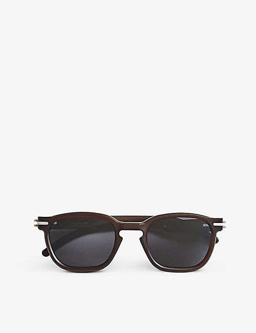 GOOD CITIZENS: Palm Beach oval-frame polarised recycled-plastic sunglasses