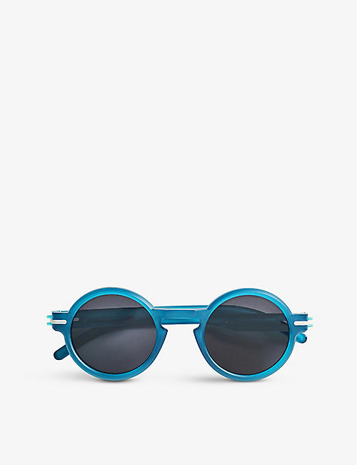 GOOD CITIZENS: Bronte round-frame polarised recycled-plastic sunglasses