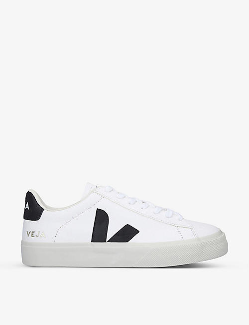 VEJA: Women's Campo leather and suede low-top trainers