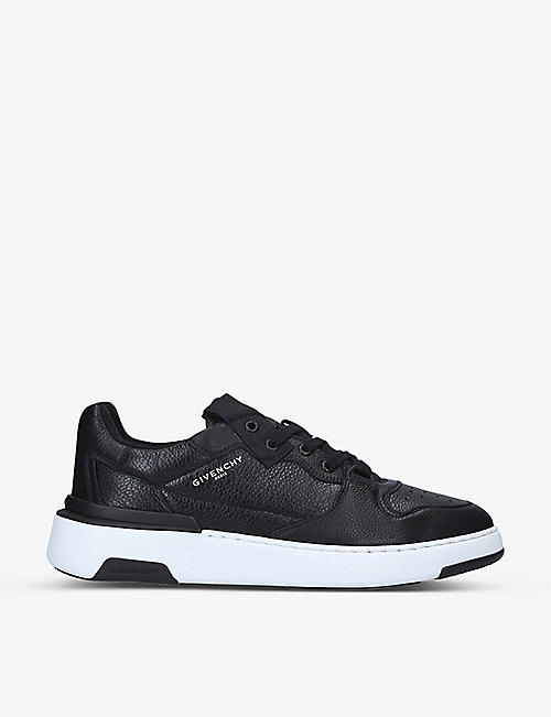 GIVENCHY: Wing logo-embellished leather trainers