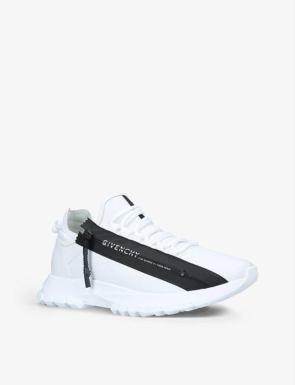 GIVENCHY Leathers SPECTRE ZIPPED LEATHER TRAINERS