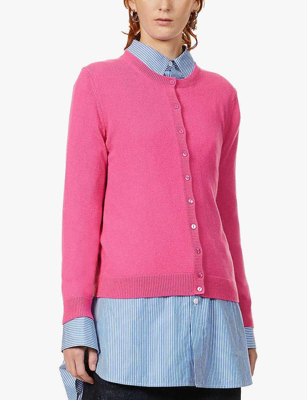BENETTON: Buttoned cashmere cardigan