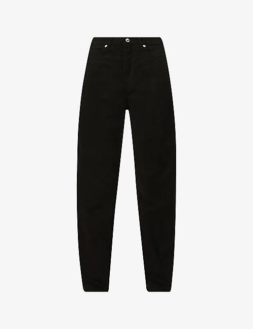 BENETTON: High-rise relaxed straight-leg denim jeans