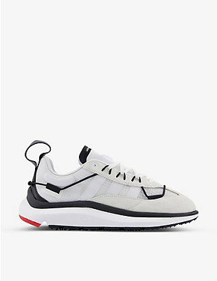 ADIDAS Y3: Shiku Run suede and mesh trainers