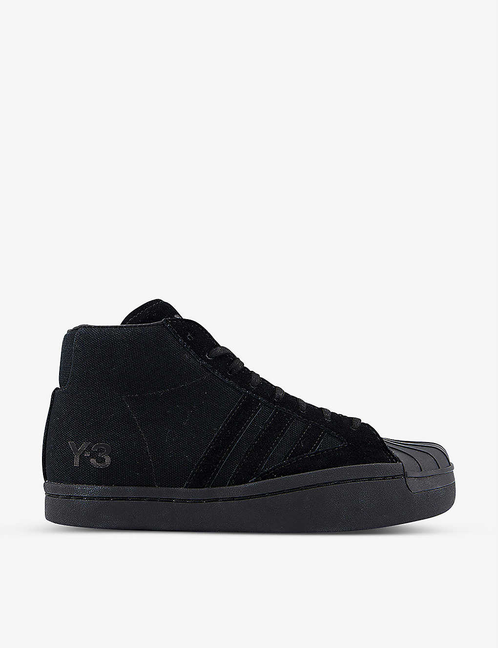 ADIDAS Y3: Y-3 Yohji Pro canvas and suede trainers