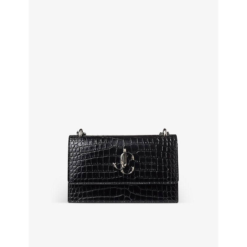 Bohemia crocodile-embossed leather clutch bag