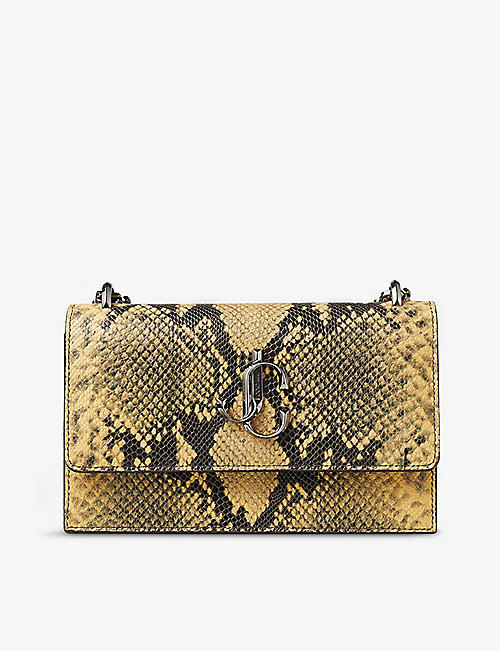 JIMMY CHOO: Bohemia snake-print leather clutch bag